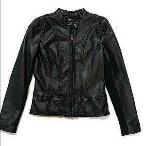 Express Leather Moto Snap Neck Jacket